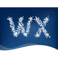 Snow letter vector image vector image