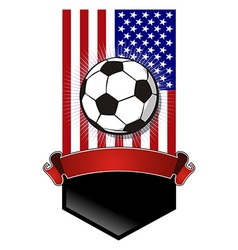 United States Soccer Championship banner vector image vector image