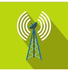 Wireless connection flat icon vector image vector image