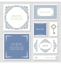 Invitation cards and templates set vector