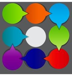 Colorful circular banners vector