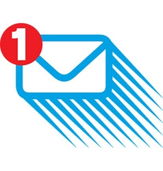 Mail notification icon vector