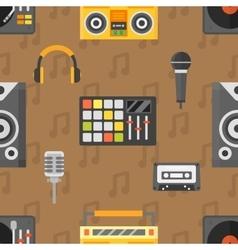 DJ seamless pattern vector image