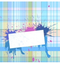 Vignette with checked background vector