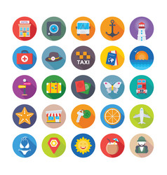 Summer and travel icons 2 vector