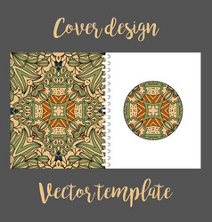 Cover design with colored tribal pattern vector