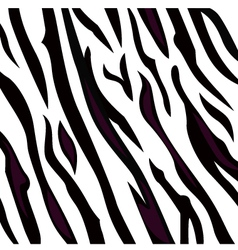 Zebra black and white pattern with stripes vector image