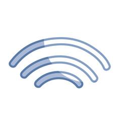 Silhouette wifi digital symbol to digital vector
