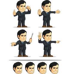 Businessman or company executive customizable 4 vector