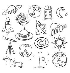 Doodle space images vector
