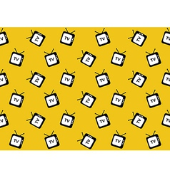 Retro tv web icon seamless pattern background vector