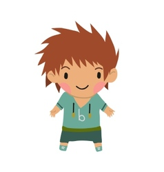 Casual little boy kids background vector