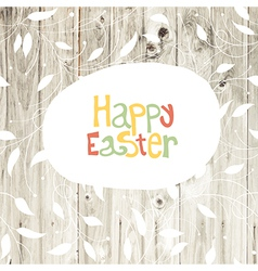 Easter card wooden back vector
