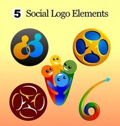social logo vector image