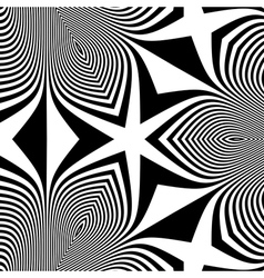 Pattern with optical abstract background vector
