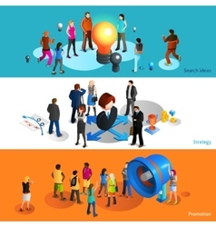 People banners set vector