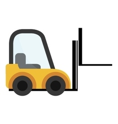 Forklift cargo vehicle icon design vector