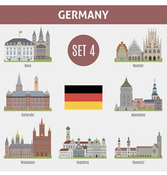 Famous places cities in german vector