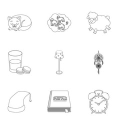 a set of pictures on a theme a dream rest bed vector image