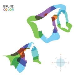 Abstract color map of Brunei vector image vector image