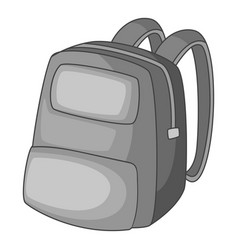 Backpack icon monochrome vector