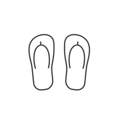 Beach step-ins icon vector
