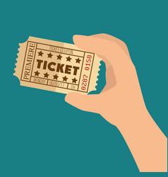 cinema ticket entrance icon vector image