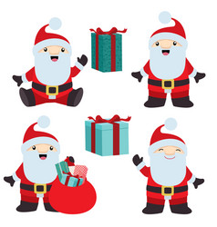 collection of christmas santa claus 2 vector image