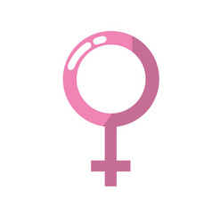 Femele gender symbol to special event vector