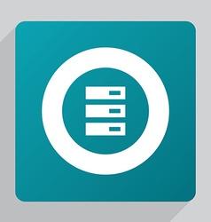 Flat server icon vector