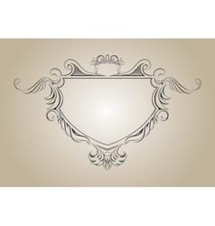 frame with floral elements for registration vector image