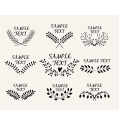 Hand drawn floral symmetric graphic design vector