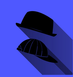 Hat and baseball cap on a blue background vector