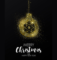 Holiday new year card- golden ornament vector