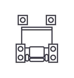 home cinema theater concept thin line icon vector image vector image
