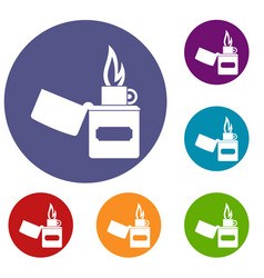 Lighter icons set vector