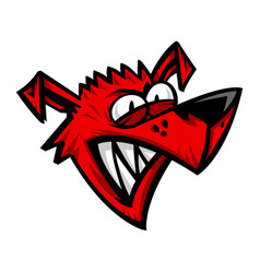 mad crazy dog vector image