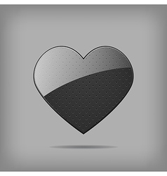 metal heart vector image vector image