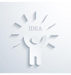 modern concept idea icon vector image vector image