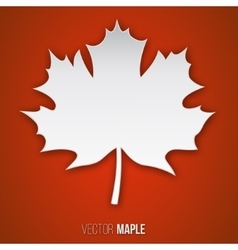 paper maple leaf vector image