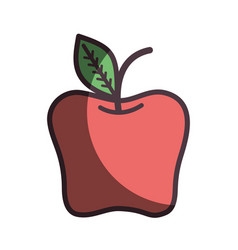 Red delicious apple healthy fruit vector