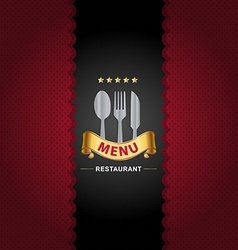 Restaurant menu design on Royal background vector image