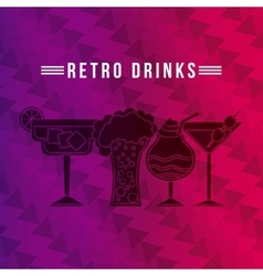 Retro drinks vector