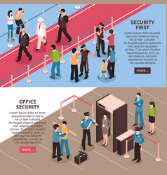 security horizontal banners set vector image vector image