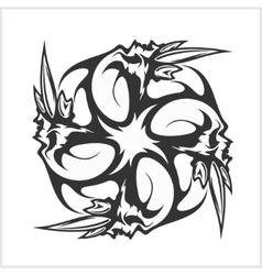 Skulls T-shirt design logos vector image