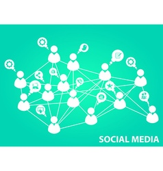 Social media background vector image vector image