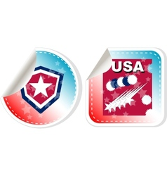 Stickers label set Made in USA vector image
