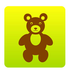 teddy bear sign brown icon vector image