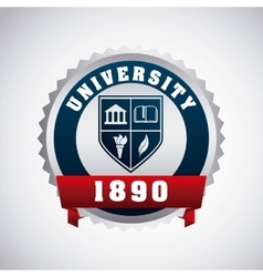 University emblem concept icon vector