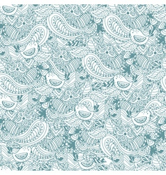 Vintage floral hand drawn seamless pattern vector image